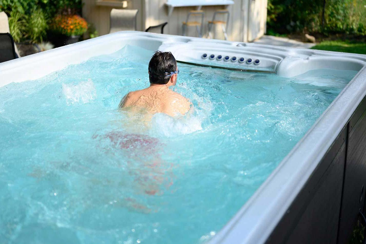 How to Get into a Swim Spa?